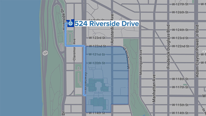 Riverside Location on Map
